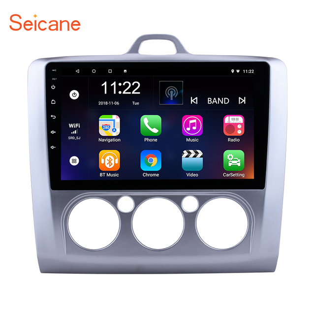 """Seicane Android 6.0/7.1/8.1 9"""" Car Radio For Ford Focus 2 Exi MT 2004 2005 2006 2007 2008 2009- 2011 2Din GPS Multimedia Player"""
