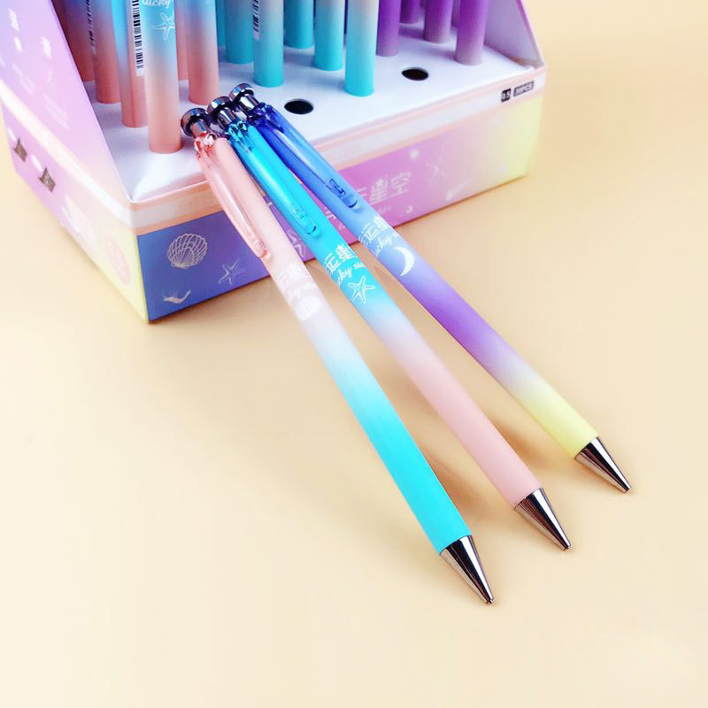 Cute Kawaii Moon Star Plastic Mechanical Pencil Creative Sky Automatic Pens For Kids Writing School Supplies Korean Stationery