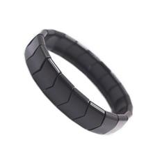 BYRIVER Natural Black Tourmaline Stone Germanium Negative Ion Energy Bracelet Health