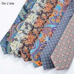 Высококачественный Китайский шелковый галстук с рисунком, в 7 раз, в подарочной коробке