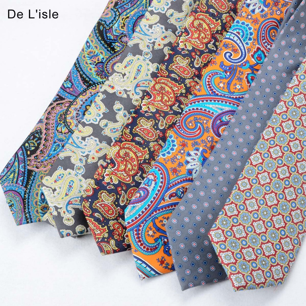 High Quality 100% Silk Tie Seven Fold Chinese Silk Printed Necktie With Gift Box