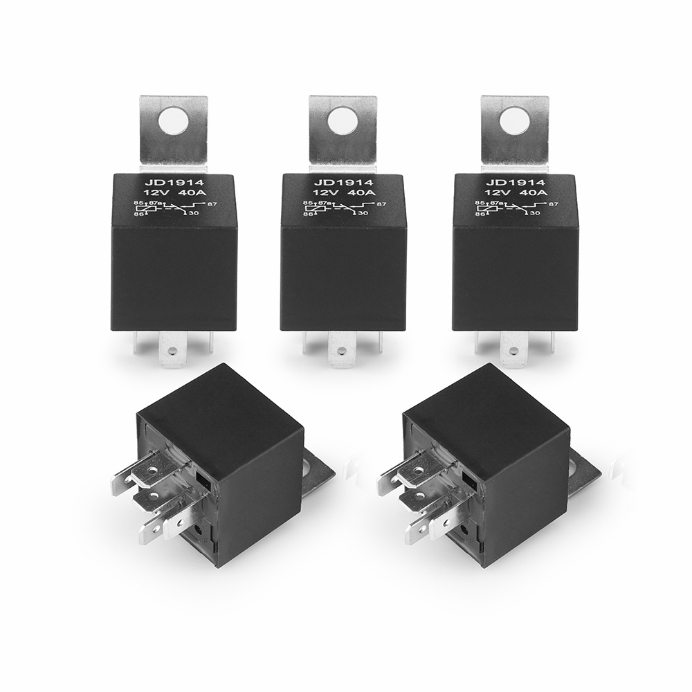 Onever 5Pcs DC 12V Car SPDT Automotive Relay 5 Pin 5 Wires Harness ...