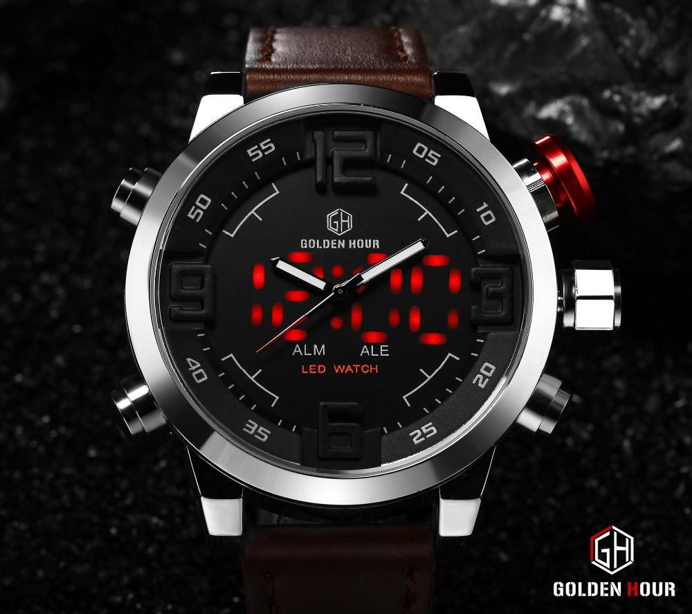 ร้อนยี่ห้อนาฬิกาผู้ชายสบายๆดูมัลติฟังก์ชั่Ledนาฬิกาผู้ชายฉลามนาฬิกาสไตล์ปลุกควอตซ์กีฬาน... 16
