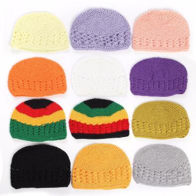 Free shipping 2017 Handmade Cotton KUFI Crochet Beanie Skull Cap Knitted Hat Baby Beanies 21 Colors Fit 0-2 years baby molly картина по номерам л афремов лондон биг бен