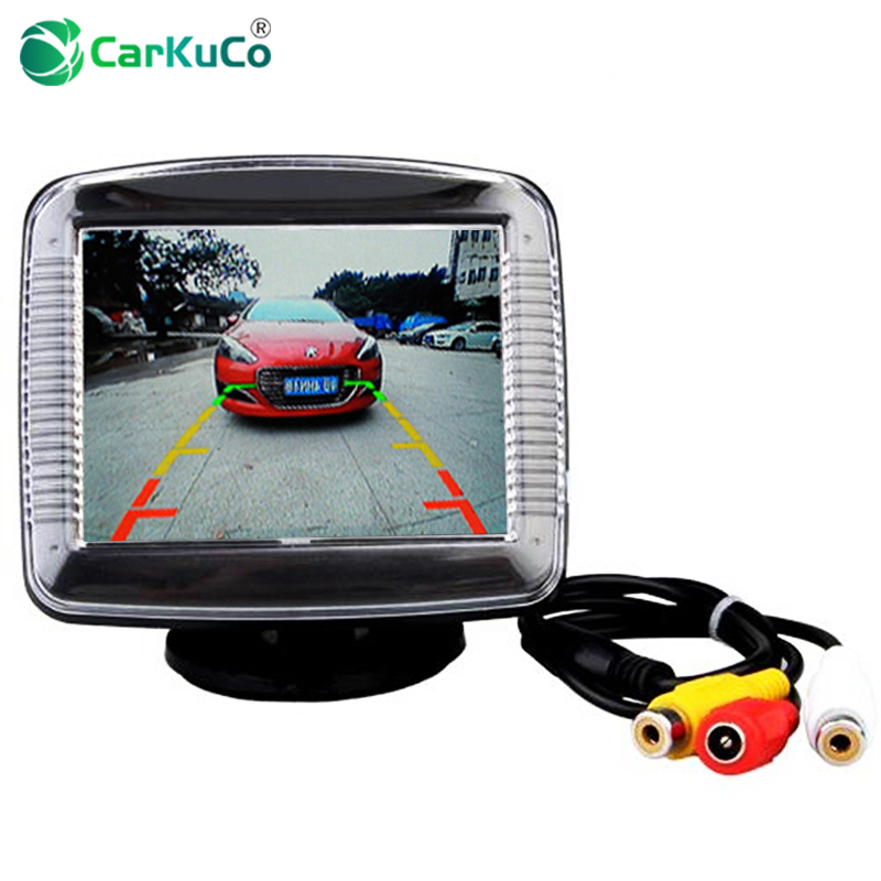 3 5 inch car rearview reverse backup monitor 3 5 mini tft. Black Bedroom Furniture Sets. Home Design Ideas