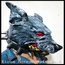 Top Quality 100% Latex Animal Wolf Head Mask Horror wolf Mask Fancy Dress Costume Party Scary Halloween Wolf Head Mask Free size