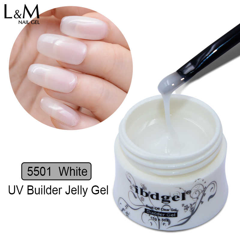 1 PC Ibdgel UV/LED Jelly Rendam Off Gel Cat Kuku untuk Memperpanjang Kuku 15G Builder Gel Polandia