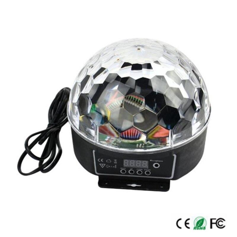 Newest Digital 20W AC85-265V LED RGB Crystal Magic Ball Effect Light Disco DJ Stage Lighting Lamp Free shipping