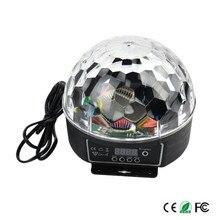 Новейшие цифровые 20 Вт AC85-265V RGB LED Хрустальный Магический Шар Световой Эффект Дискотека DJ этап Освещение лампа Бесплатная доставка