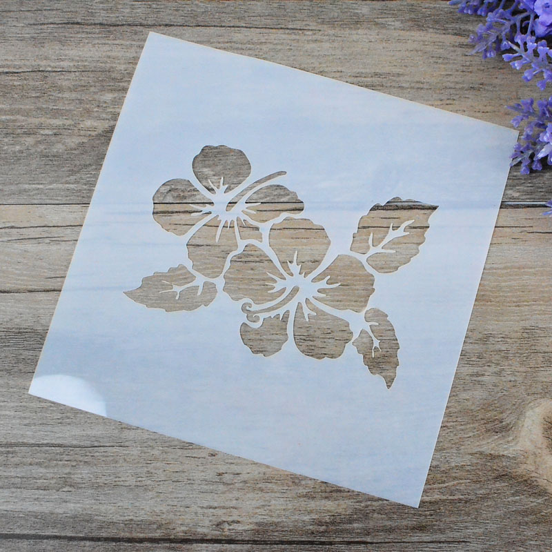 stencils para paredes de da videira da flor do ofcio diy pintura carimbar lbum