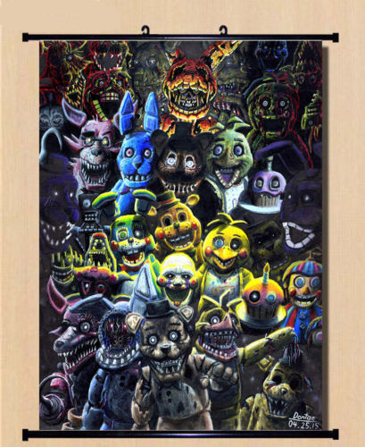 Custom Canvas Wall Decals Five Nights At Freddy's Game Poster Five