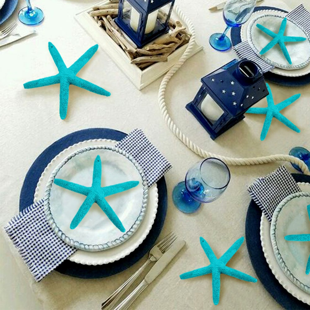 OurWarm 10pcs 4 Inch Marine Decoration Resin Artificial Starfish Five Finger Starfish Sea Party Decorations Nautical Home Decor