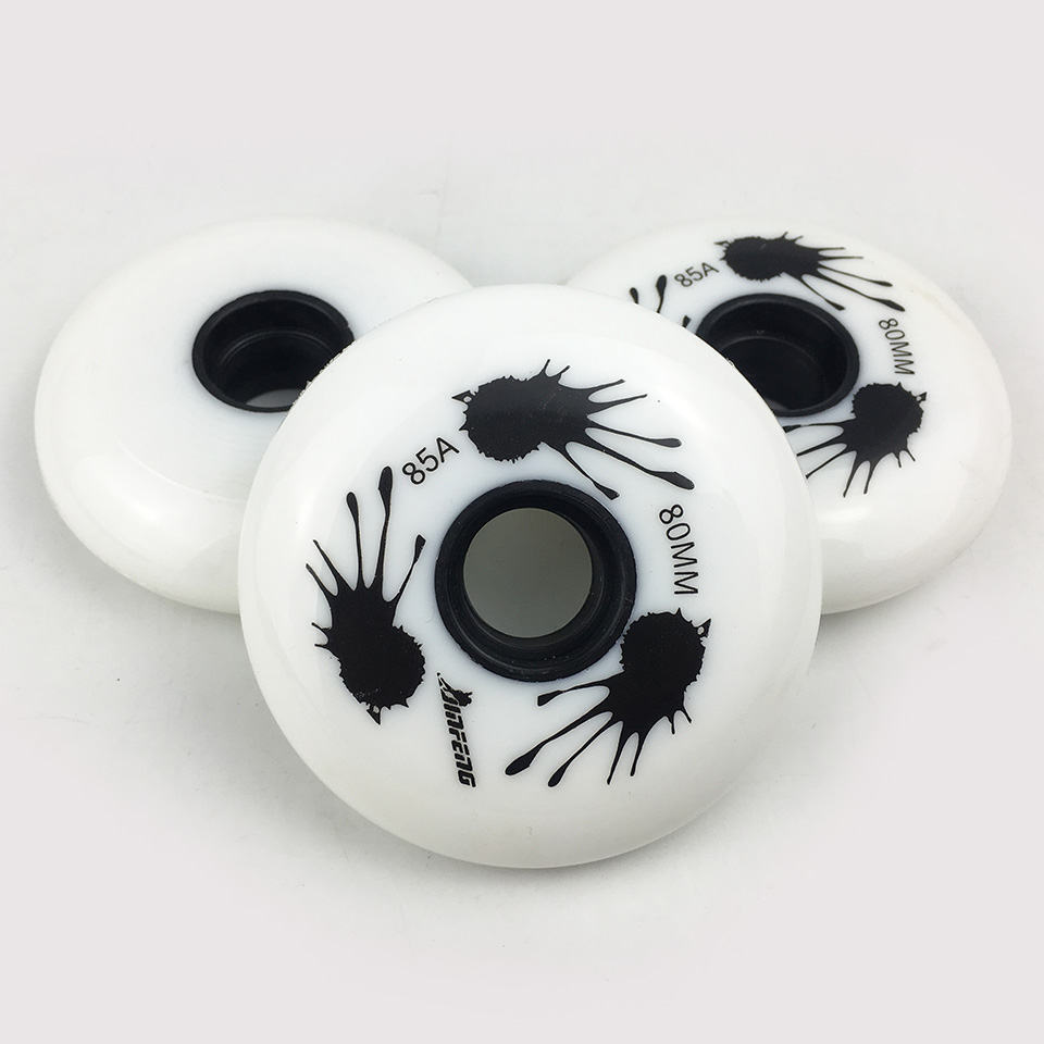JAPY Inline Roller Skates Wheel 85A 80 76 72mm White Professional Slalom Sliding Skating Roller for Kids Adult SEBA Patines LZ93 in Scooter Parts Accessories from Sports Entertainment