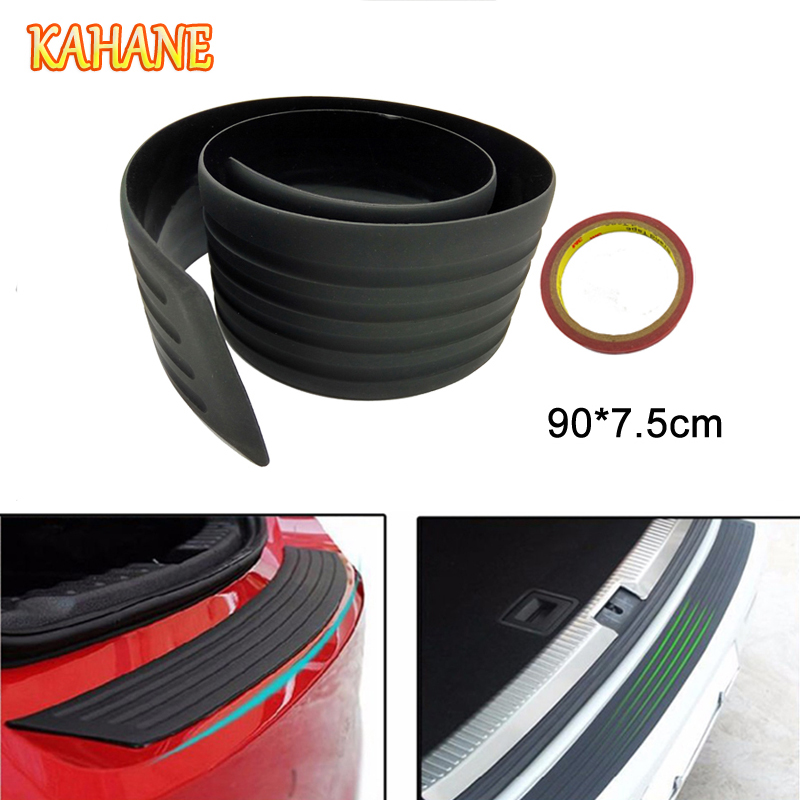 KAHANE 90cm Car SUV Rear Bumper Protector Rubber Trunk Sill Plate Scratch Guard Pad FOR  ...
