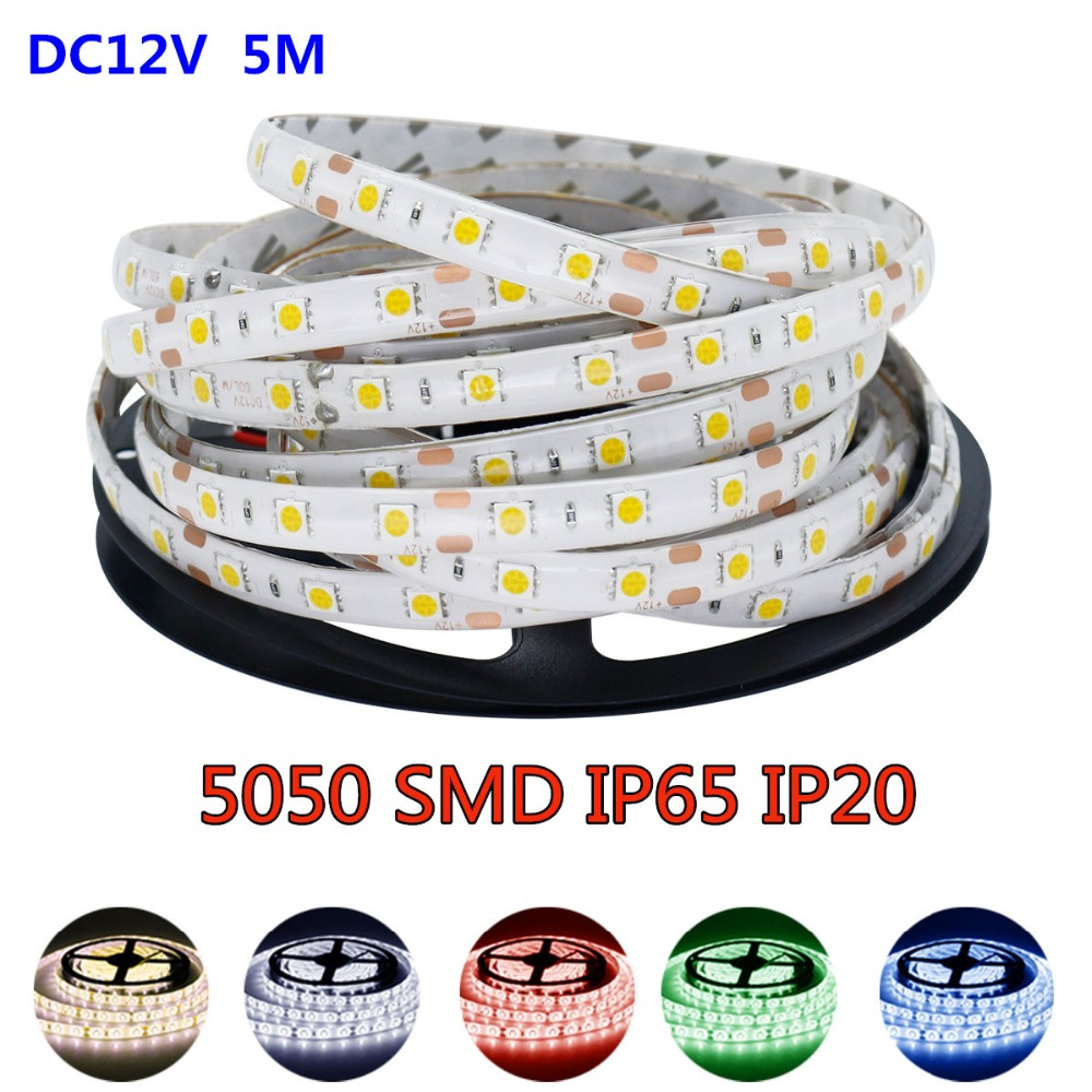 Outdoor 12 Volt 60leds Meter Led Strip Smd 5050 Rgb: Aliexpress.com : Buy 5M RGB Led Strip 5050 SMD Waterproof