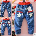 Пункт мальчик весна джинсы брюки ребенок милый деним брюки 2 - 5 лет