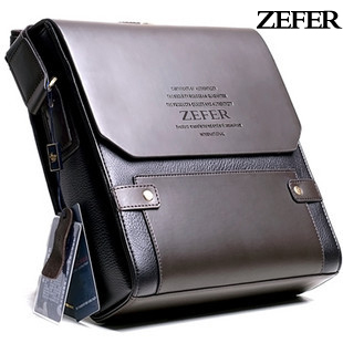 free shipping/fashion 2012 new briefcase/ cow leather/ shoulder bags/ man messager bag Zefer hot-selling men's backpack bags