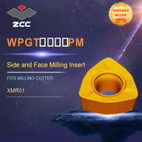 ZCC.CT lathe inserts WPGT WPGT PM for high feed milling cutter XMR01 for profile milling indexable milling tools