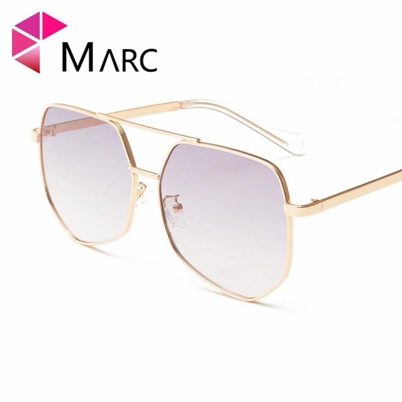 MARC 100 UV400 WOMEN MEN 2018NEW Brand Eyewear Shield Goggle Gradient Design Clear Trendy Sunglasses Gafas Oculos Alloy Resin in Women 39 s Sunglasses from Apparel Accessories