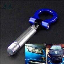 24mm T2 Aluminum Racing Screw Cnc Tow Towing Hook Fit Toyota Yaris 07-11 Blue