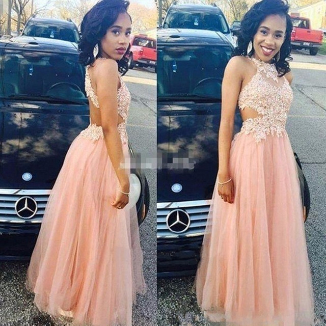 African Modest   Prom     Dresses   Long 2019 gala jurken Lace Tulle A Line Imported Party   Dress   Special Occasion Formal Evening Gowns
