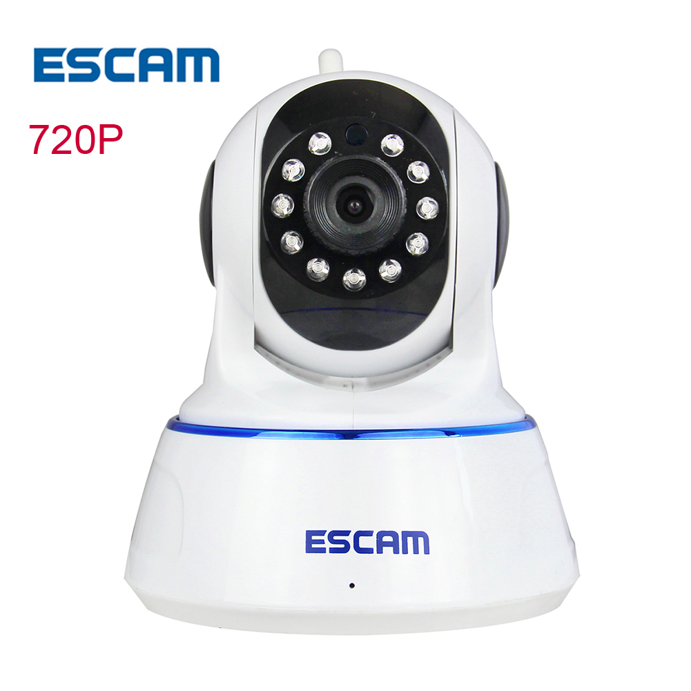 ESCAM QF002 HD 720P IP wireless wifi Camera Night Vision Network p2p ip cam wi-fi home CCTV security Camera Ip Cameras hd 1080p cctv wifi wireless ip camera ir cut night vision network ip cam wi fi home security camera support motion detection p2p