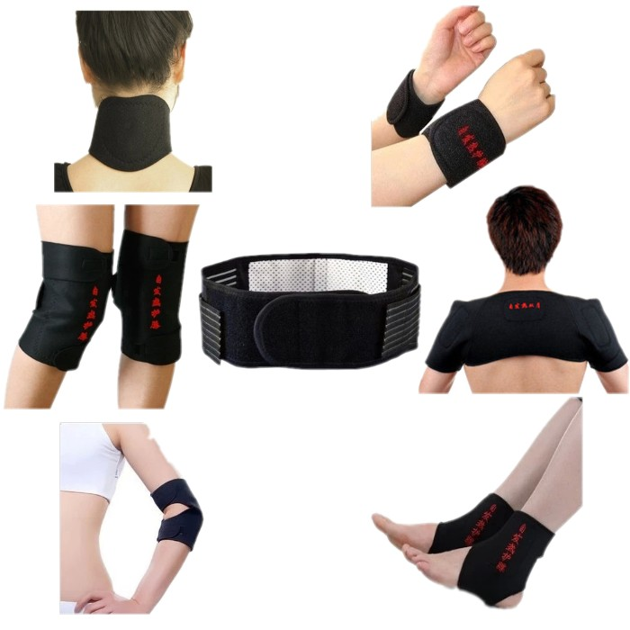 7pcs/set Spontaneous Heating Magnetic Therapy For Waist Neck Shoulder Wrists Knees Protectors Full Body Braces Support Xl Size Selected Material Massage & Relaxation