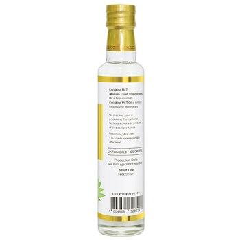 Corona de cadena mediana triglicérido MCT Natural orgánico aceite de coco Extra virgen mejor Prensa en frío aceite de coco piel