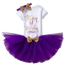It's My First 1st Birthday Little Girl Baby Outfits Baptism Dress Infant Party Costume Kids Clothes Toddler Girl 1 Year Clothing