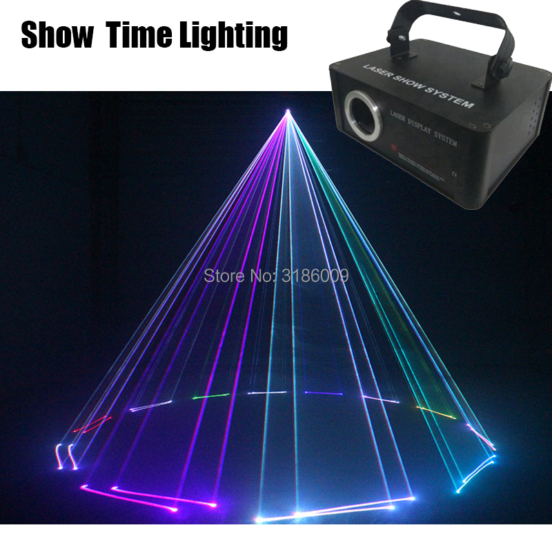 Show time disco light dj 500mw line scanner carton laser show carton flower picture bulid in program good for party KTV