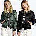 Zeagoo mulheres clássico acolchoado jaqueta acolchoada curto casaco bomber jacket