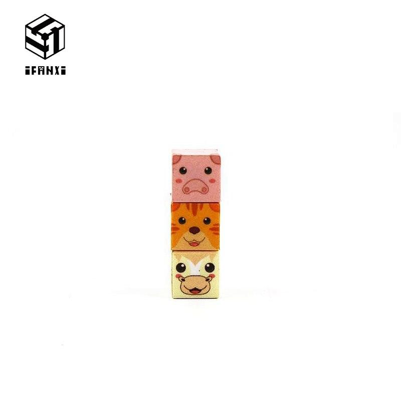 1PCS Single Grain Minecraft Magnetic Building Blocks Animal series Models Bricks Hand Paste Compatible With Lego