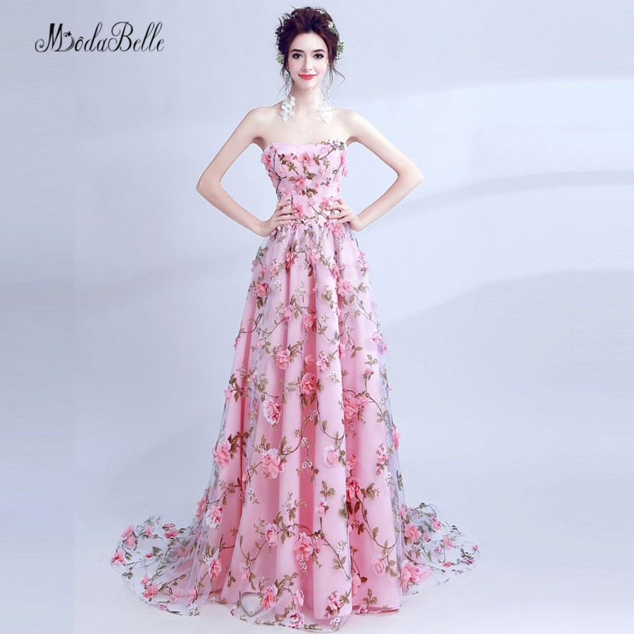 Online Get Cheap Pink Formal Vestidos De Flores -Aliexpress.com ...