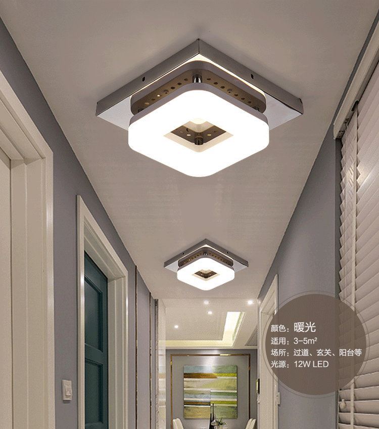 HTB1NM5oB7KWBuNjy1zjq6AOypXa4 Artpad Modern Flush Mount Ceiling Light Hallway Porch Balcony Lamp Interior Lighting Surface Mounted Square LED Ceiling Lights