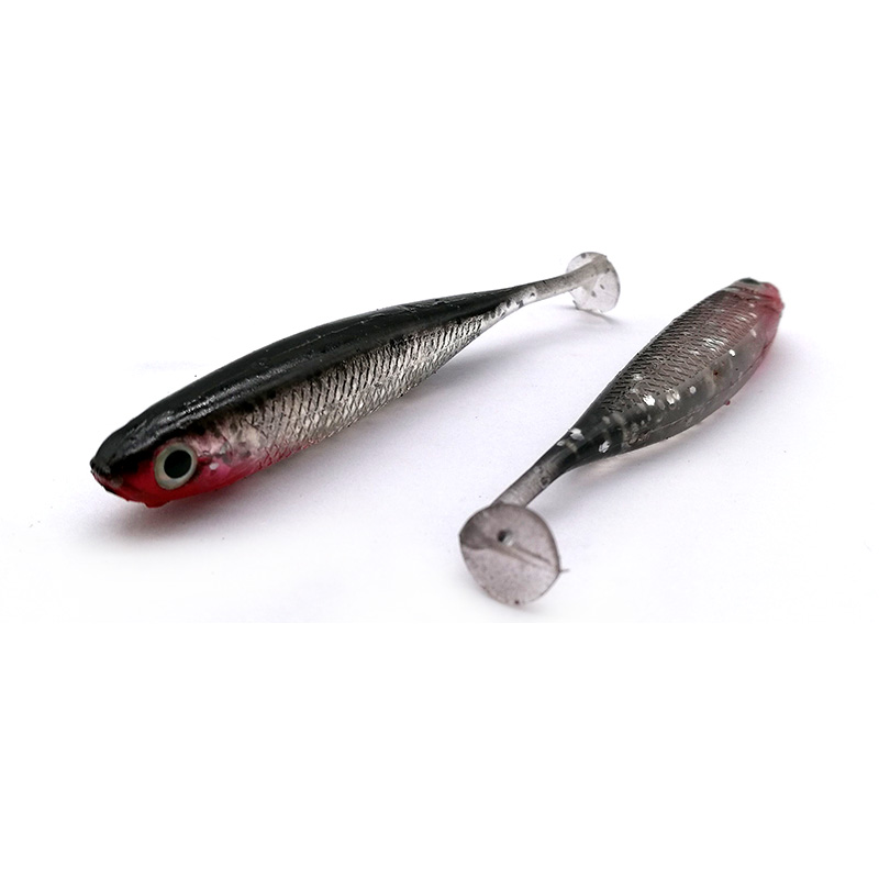 YTFITASH Hot selling 5PCS Lot 2 5g 7cm Fishing Soft Lures 3D Eyes T Tail Artificial Silicone Soft Bait Fishing Lures in Fishing Lures from Sports Entertainment