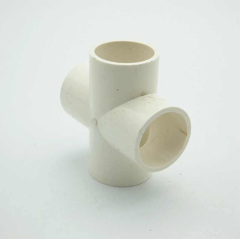 20mm ID PVC 4 Way Cross Buis Gezamenlijke Pijp Koppeling Water Connector Voor Tuin Irrigatie Systeem Hobby DIY
