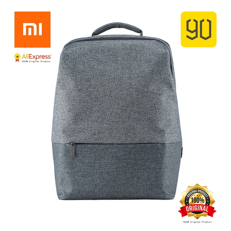 Xiaomi Eco-chain 90FUN City Concise Serie Backpack Waterproof Fashion Design for School College Treval Man Woman Dark/Light Grey мужская классическая рубашка fashion city 2015new