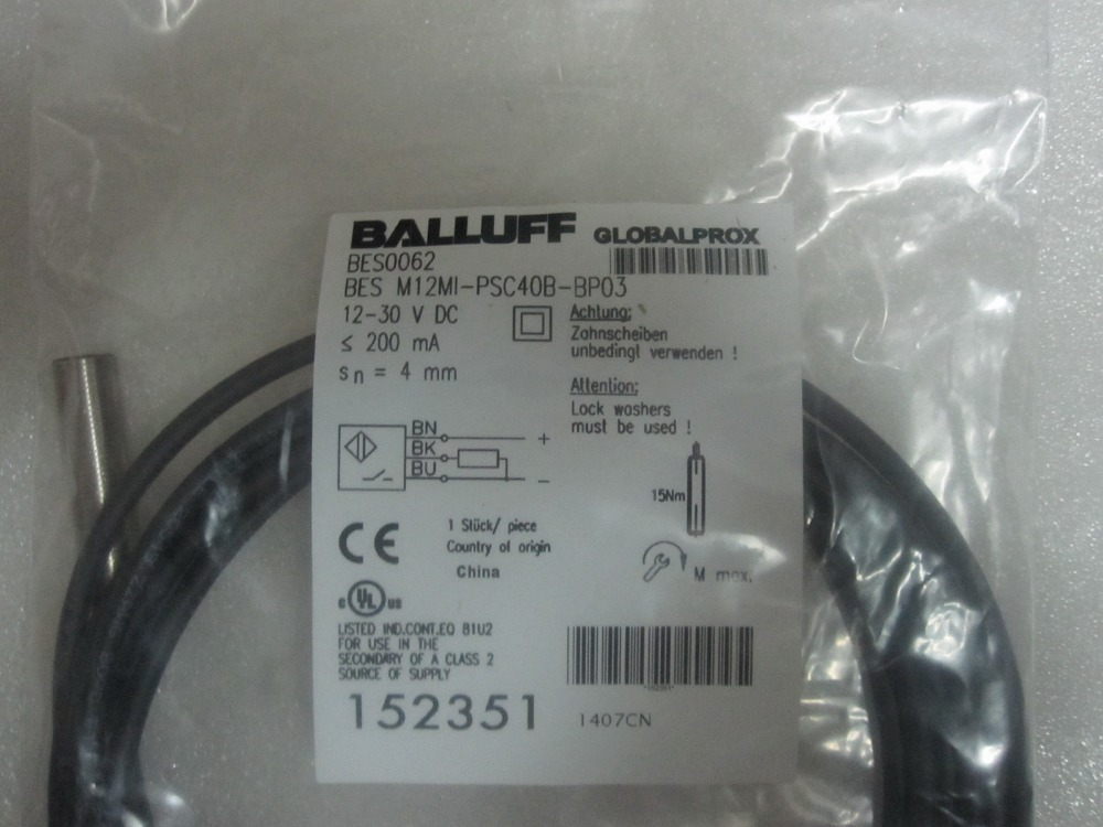 Brand new genuine High precision BALLUFF proximity switch BES M12MI-PSC40B-BP03 balluff proximity switch sensor bes 516 383 eo c pu 05 new high quality one year warranty