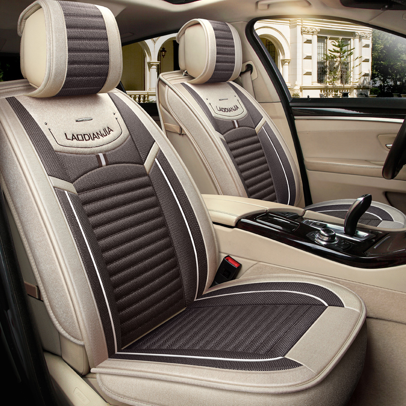 LEATHER FAUX SEAT COVERS FRONT BEIGE BMW X5 99-06