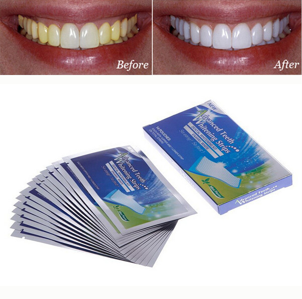 15 Pouche 30 Strip Teeth Whitening Strips Gel Care Oral Hygiene
