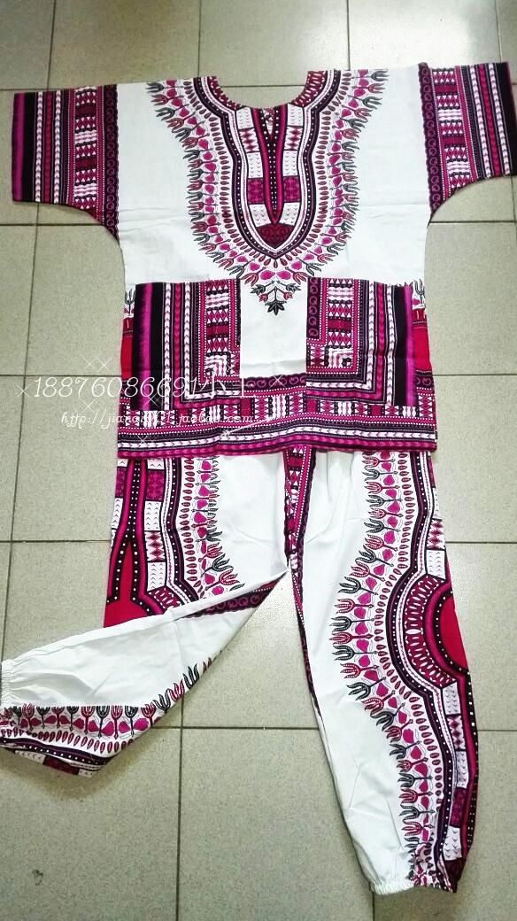 2016 New african 100% cotton Dashiki dresses suit T-shirt and pants for Adult african traditional clothing D10 bazin riche