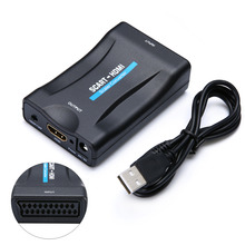 720p/1080p SCART To HDMI Converter Video Audio Signal Adapter with USB Cable Mini HDMI Converter Video Audio Upscale Converters цена и фото