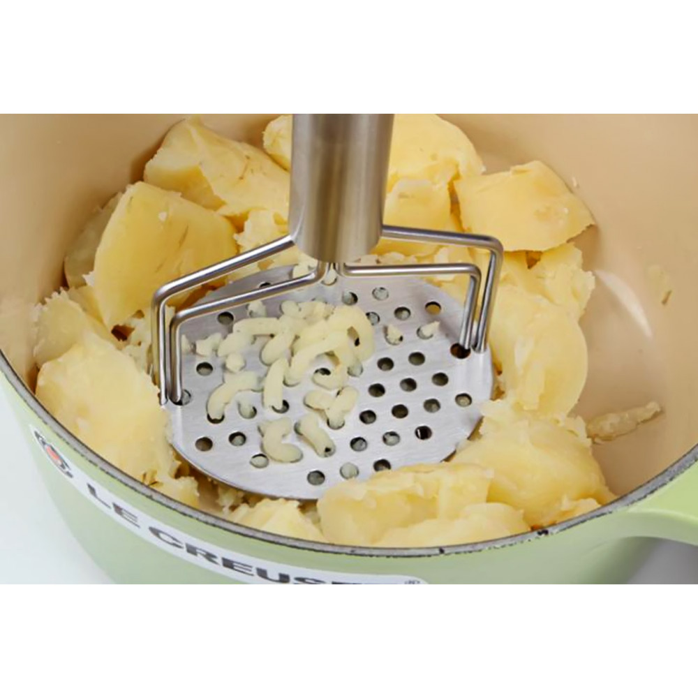 Stainless Steel Bilayer Kitchen Gadgets  Potato Pressure Mud Machine Mashed Potatoes Device Fruit Vegetable Tool Accessories