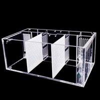 Acrylic Isolated Little Fish Tank Three Lattice Standard Aquarium (Tank Body + Segregation Board)