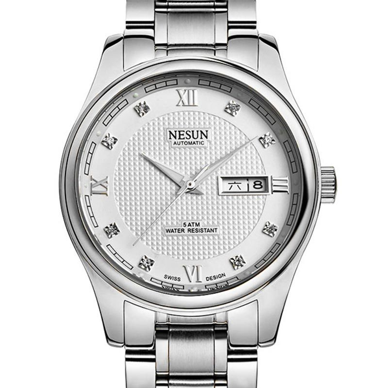 Switzerland Luxury Brand NESUN Diamond Automatic Mechanical Men