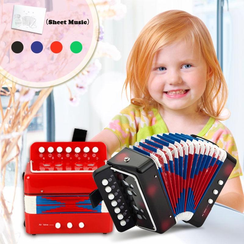 KAWO 4 Kleur Vroeg Leren Mini Muziek Speelgoed Kind Accordeon Best - Leren en onderwijs