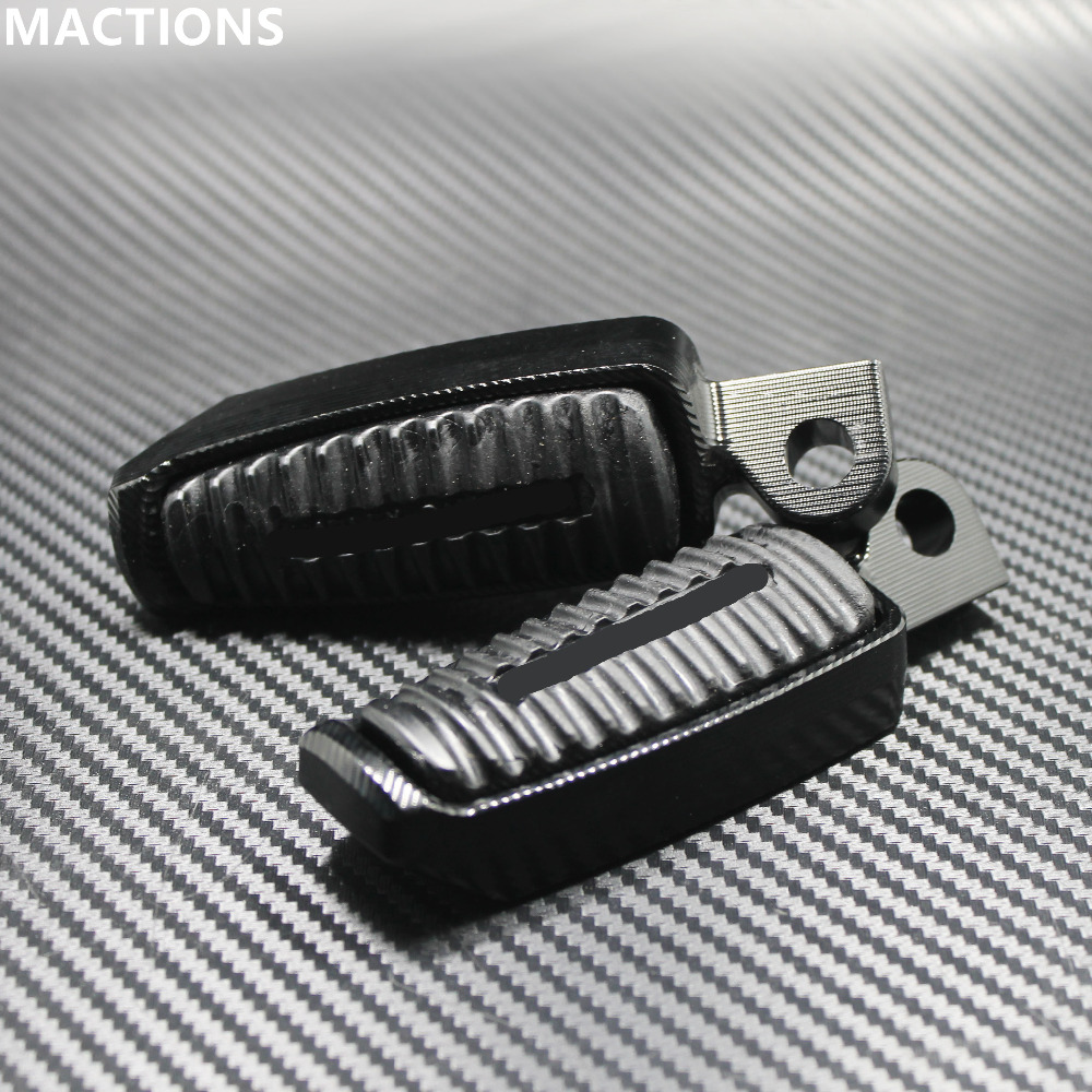 MACTIONS Motorcycle 45 Degree Foot Pegs Black Mount-style Footrests For Harley Sportster 883 1200 XL V-Rod Low Hugger