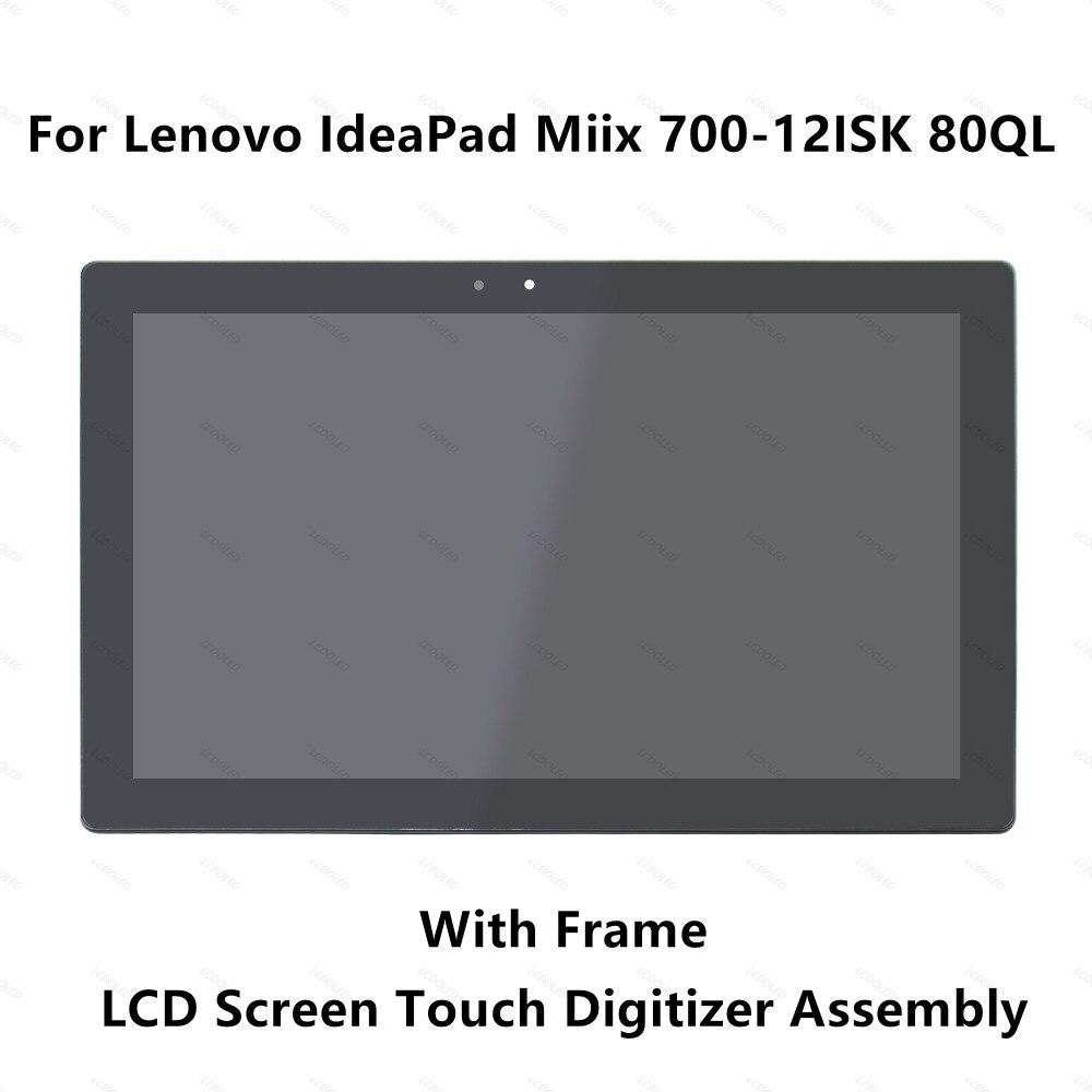 Pour Lenovo IdeaPad Miix 700-12ISK 80QL000CUS 80QL0020US 80QL0023MH 80QL0023SP LCD Affichage à L'écran Tactile En Verre Digitizer Assemblée