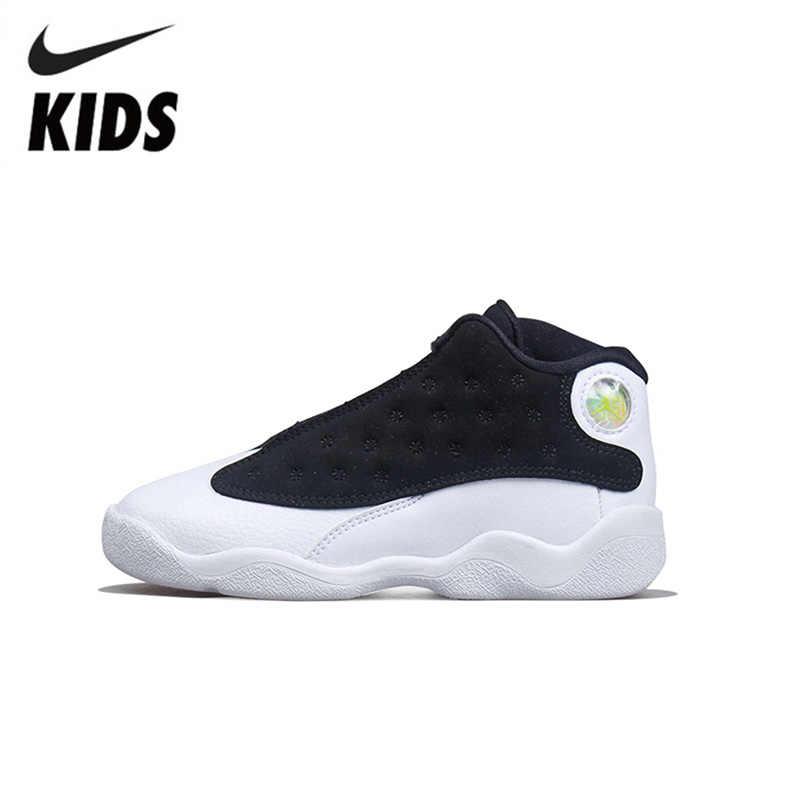 d210d992e7a8 NIKE KIDS AIR JORDAN 13 RETRO GP 13AJ13 New Arrival Original Breathable Children  Shoes Anti-