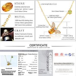 Image 5 - LAMOON  Bee 5x7mm 1ct 100% Natural Citrine 925 Sterling Silver Jewelry  Chain Pendant Necklace S925 LMNI015